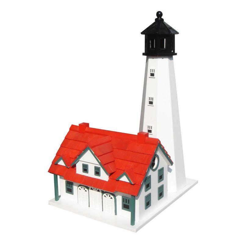 Home Bazaar Indoor / Outdoor Portland Head Lighthouse Bird House, Red White