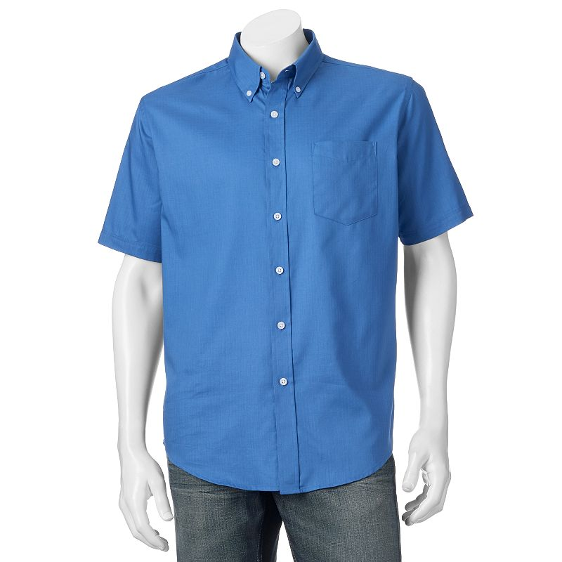 Big & Tall Croft & Barrow® Solid Easy-Care Button-Down Shirt