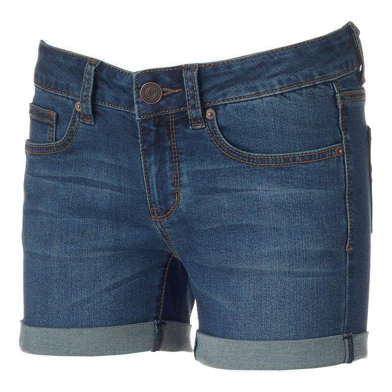 Juniors' SO® Midi Jean Shorts