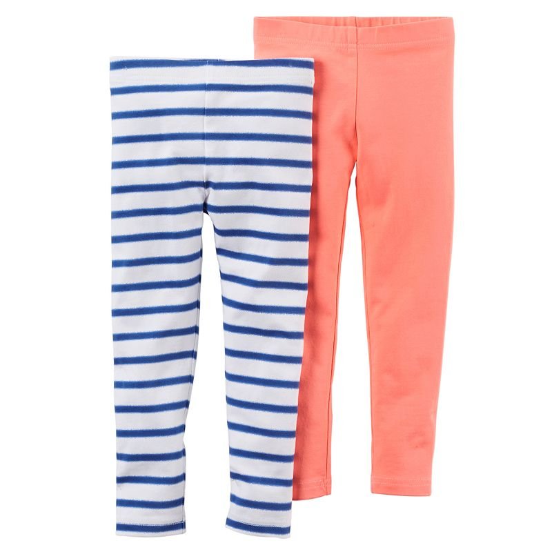 Baby Girl Carter's 2-pk. Stripe & Solid Leggings
