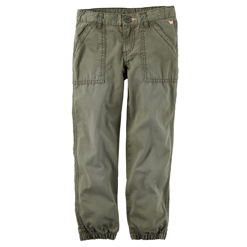 Baby Girl Carter's Cinched-Cuff Twill Pants