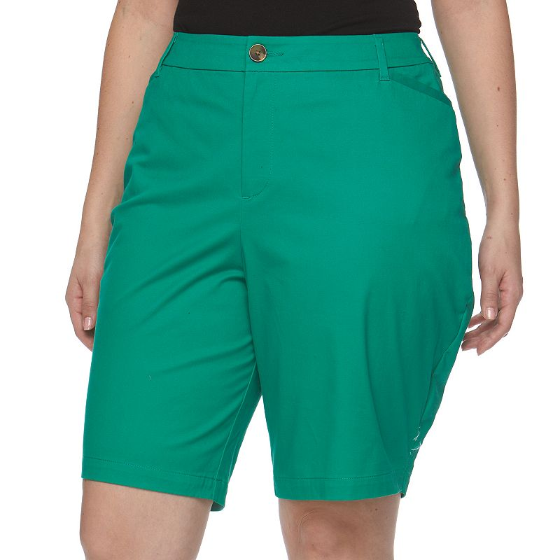 Plus Size Croft & Barrow® Bermuda Shorts
