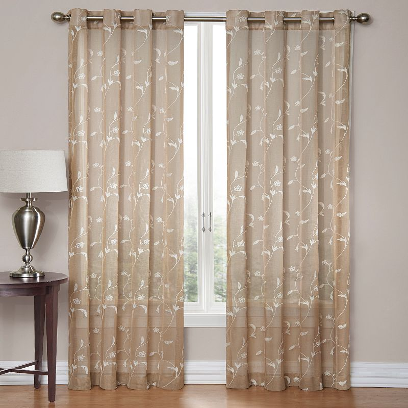 SONOMA Goods for Life™ Delany Embroidered Sheer Curtain
