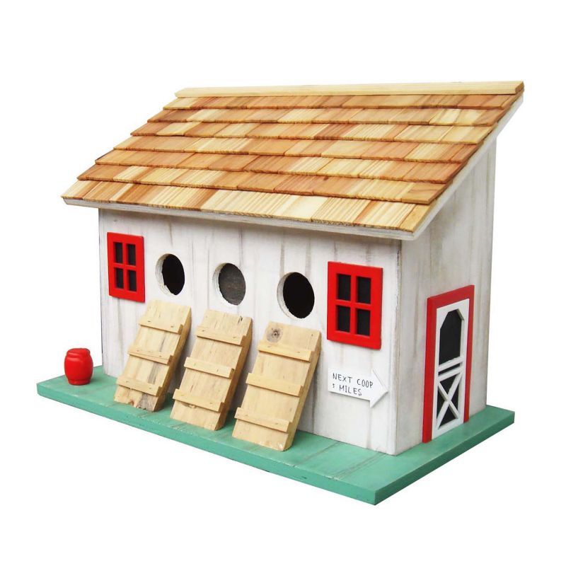 Home Bazaar Indoor / Outdoor Chicken Coop Bird House, White