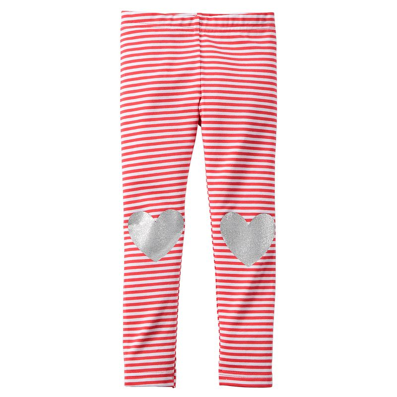 Baby Girl Carter's Foil Heart Knee Leggings