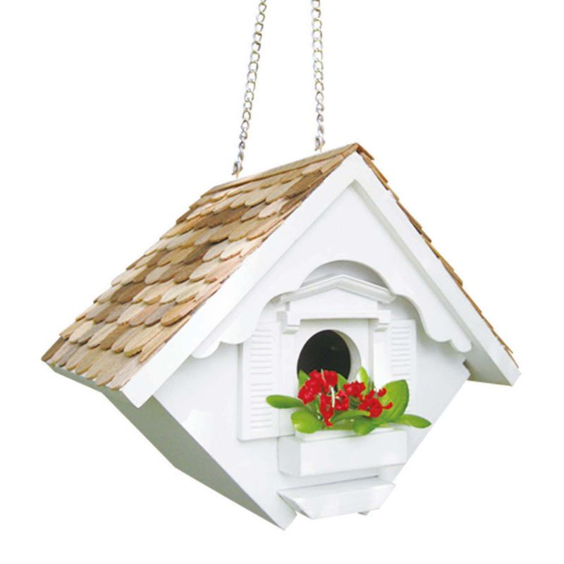 Home Bazaar Indoor / Outdoor Little Wren Bird House, White