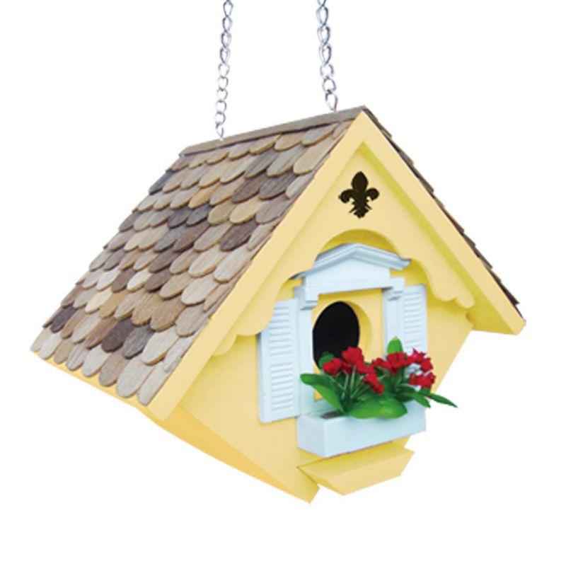 Home Bazaar Indoor / Outdoor Little Wren Bird House, Yellow
