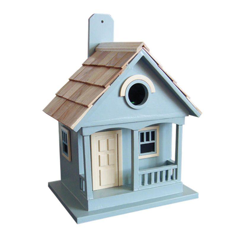 Home Bazaar Indoor / Outdoor Pacific Grove Bird House, Light Blue