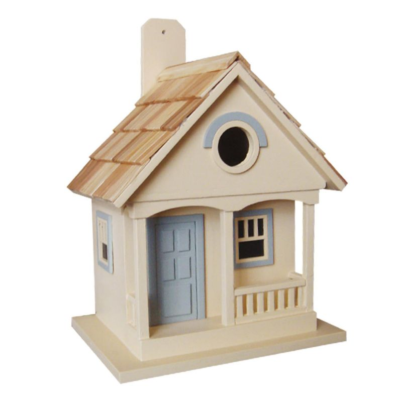 Home Bazaar Indoor / Outdoor Pacific Grove Bird House, Yellow