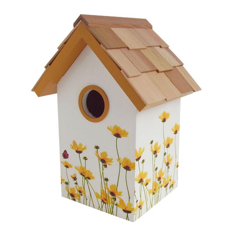 Home Bazaar Indoor / Outdoor Floral Bird House (Daisy)