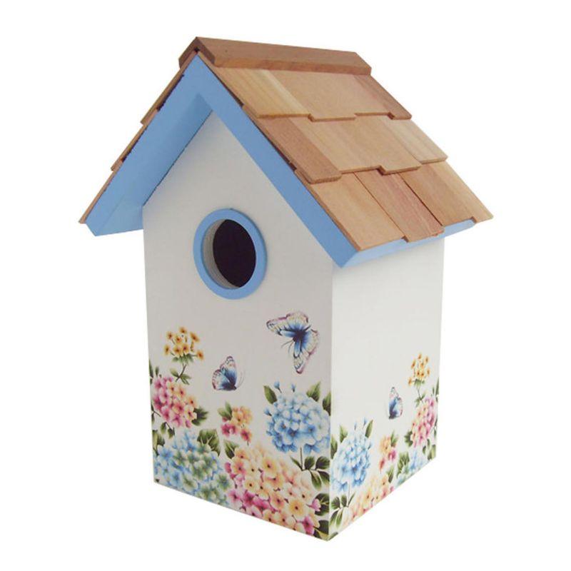 Home Bazaar Indoor / Outdoor Floral Bird House (Hydrangea)