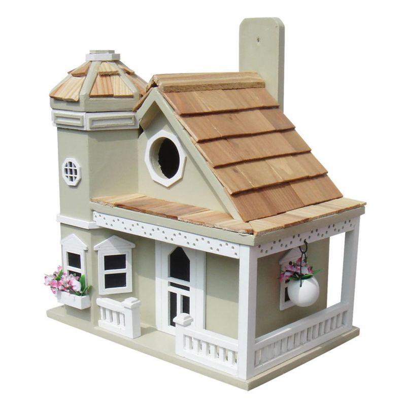 Home Bazaar Indoor / Outdoor Flower Pot Cottage Bird House, Green
