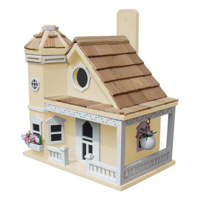 Home Bazaar Indoor / Outdoor Flower Pot Cottage Bird House, Yellow