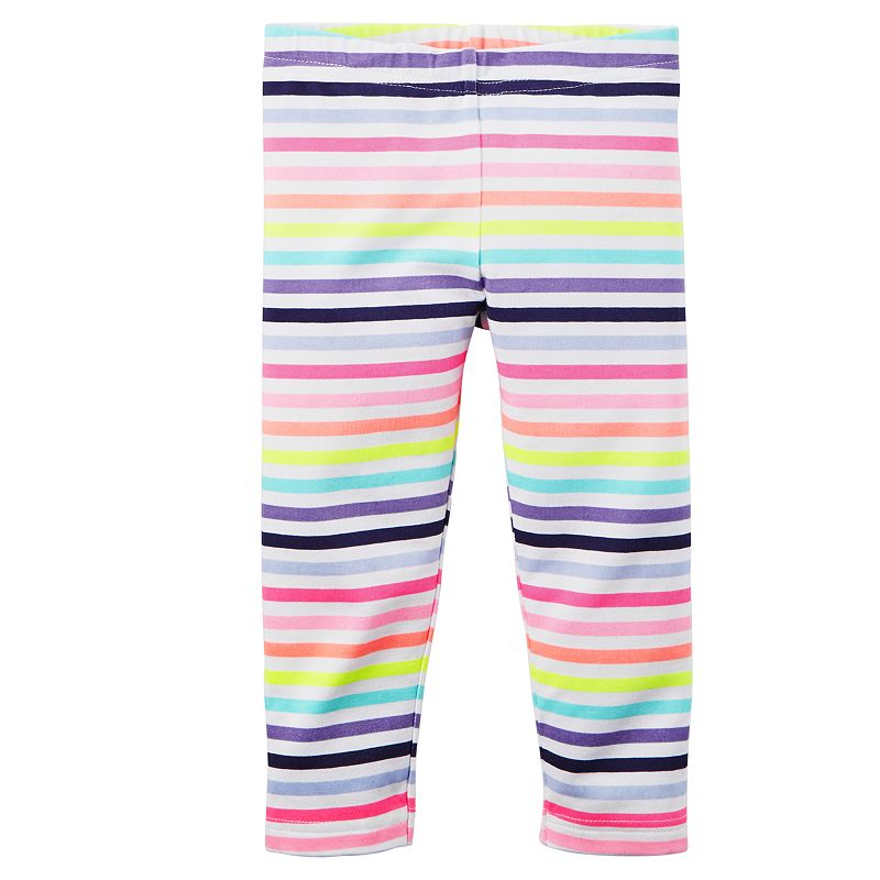 Baby Girl Carter's Striped Capri Leggings