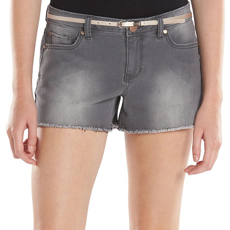 LC Lauren Conrad Distressed Jean Shortie Shorts - Women's