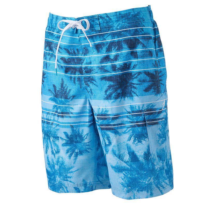 Men's Speedo Palm Tree Striped E-Board Shorts