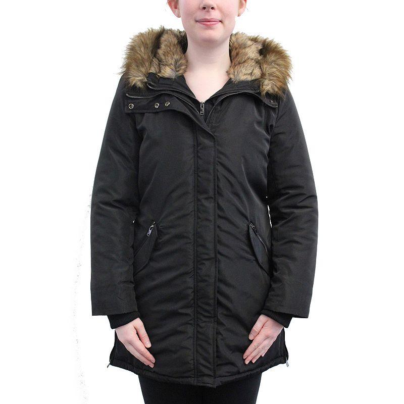 Plus Size KO-KA Hooded Puffer Jacket