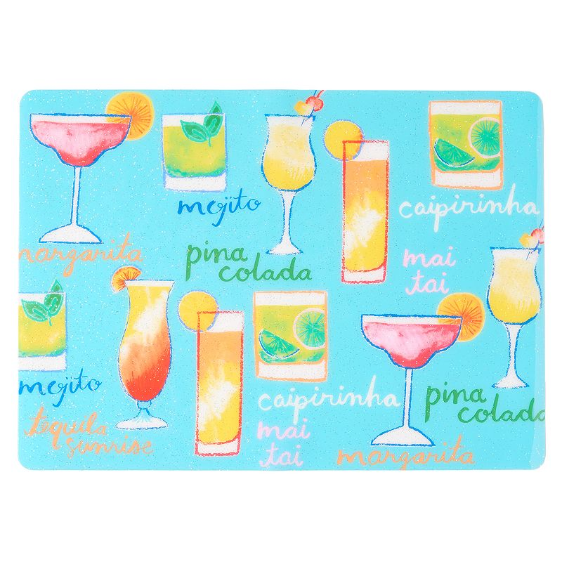Celebrate Summer Together Tropical Drinks Placemat