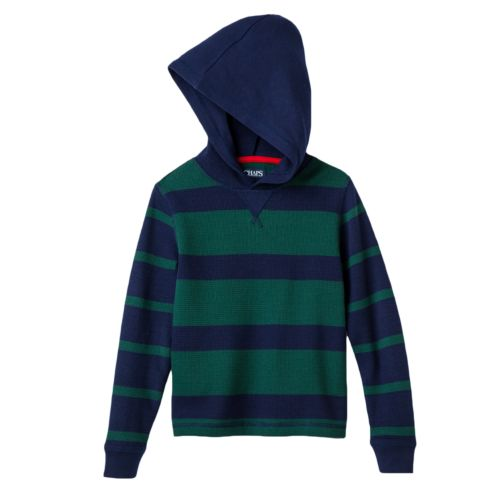 Chaps Striped Thermal Hoodie - Boys 4-7