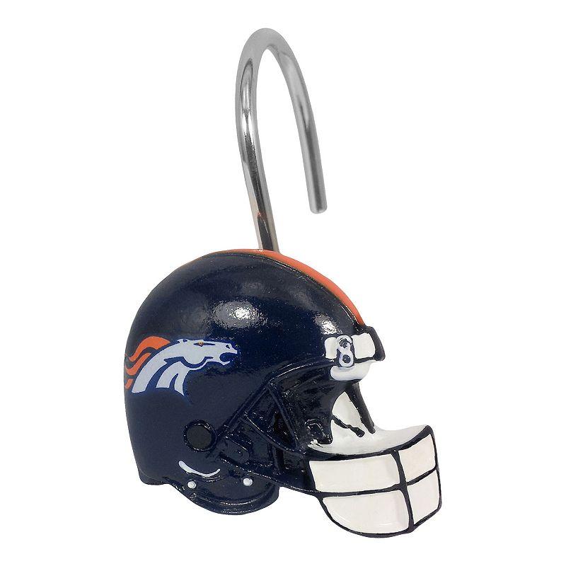Denver Broncos 12-Pack Shower Curtain Hooks