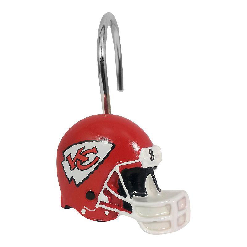 Kansas City Chiefs 12-Pack Shower Curtain Hooks