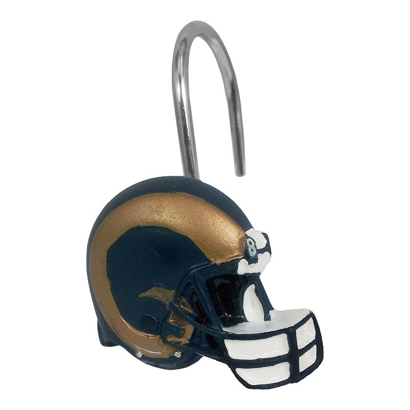 St. Louis Rams 12-Pack Shower Curtain Hooks