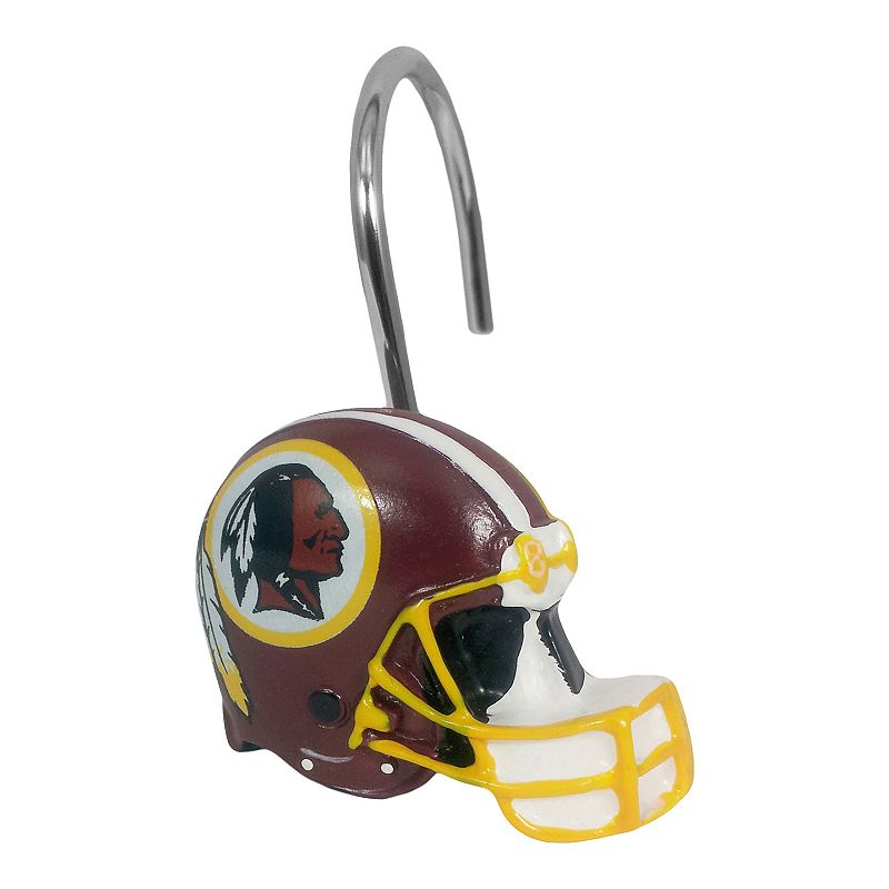 Washington Redskins 12-Pack Shower Curtain Hooks