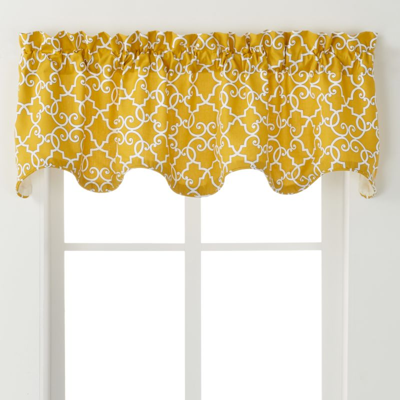 "Ellis Curtains Woburn Valance - 70"" X 17"", Yellow 