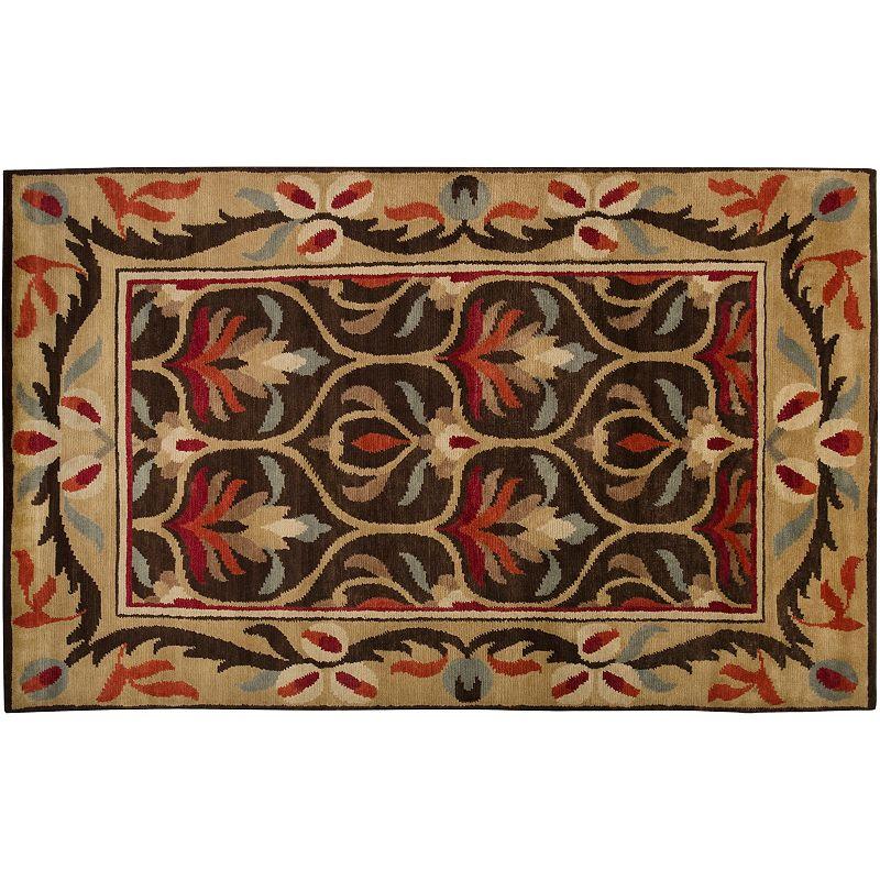Artisan Weaver Stickney Framed Floral Wool Rug