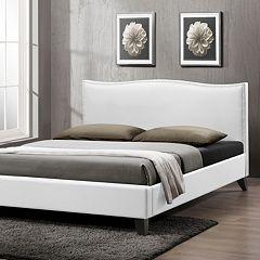 Baxton Studio Battersby Upholstered Headboard Modern Bed by