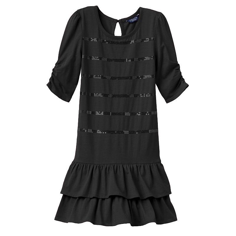 Girls 4-6x Chaps Sequin Drop-Waist Dress