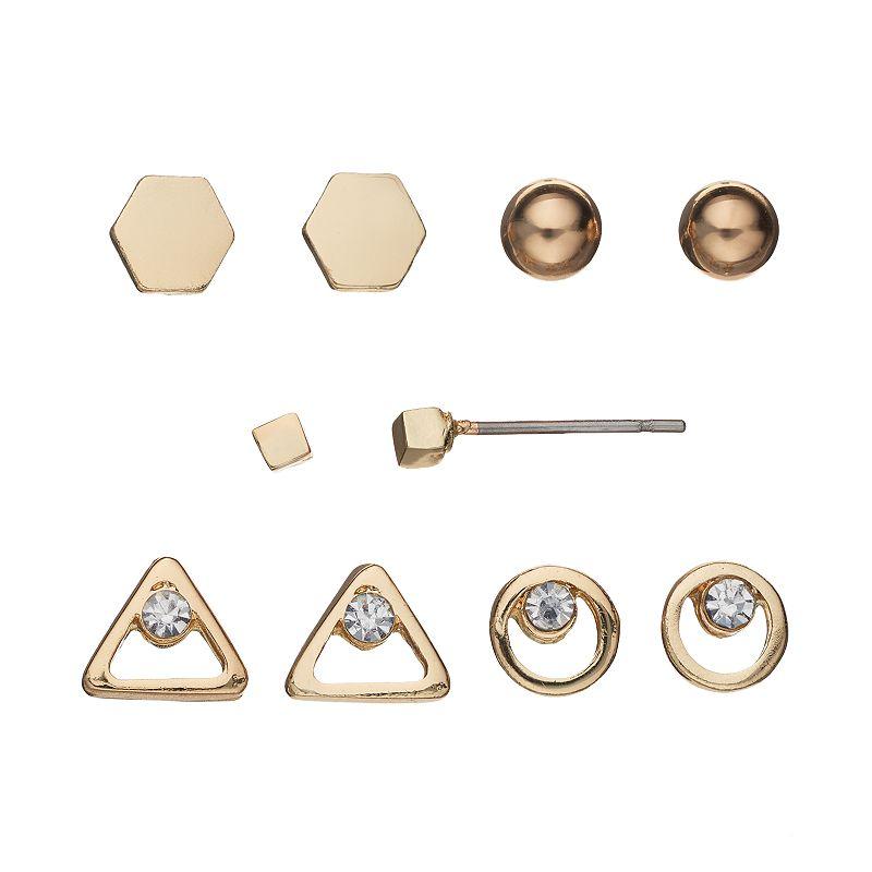 LC Lauren Conrad Geometric Stud Earring Set