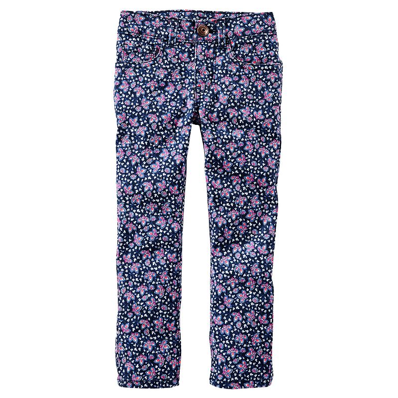 Toddler Girl OshKosh B'gosh® Floral Skinny Twill Pants
