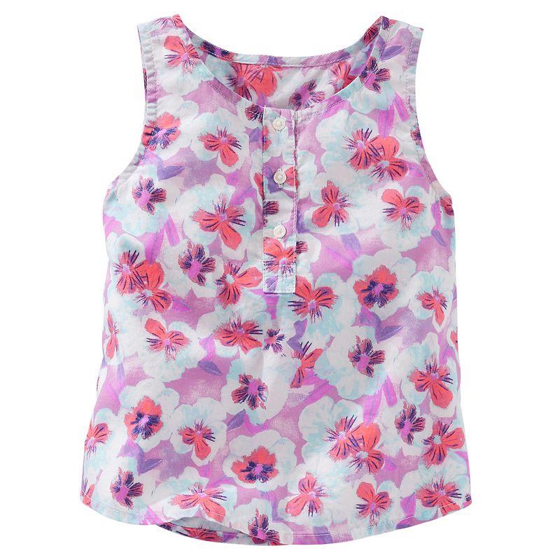 Toddler Girl OshKosh B'gosh® Floral Henley Tank