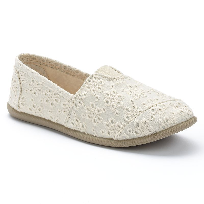 Mudd® Girls' Slip-On Floral Crochet Flats