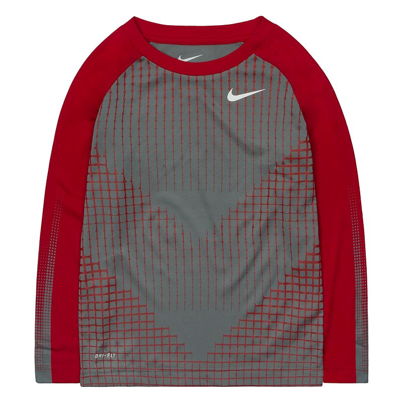 Toddler Boy Nike Chevron Squares Dri-FIT Raglan Tee