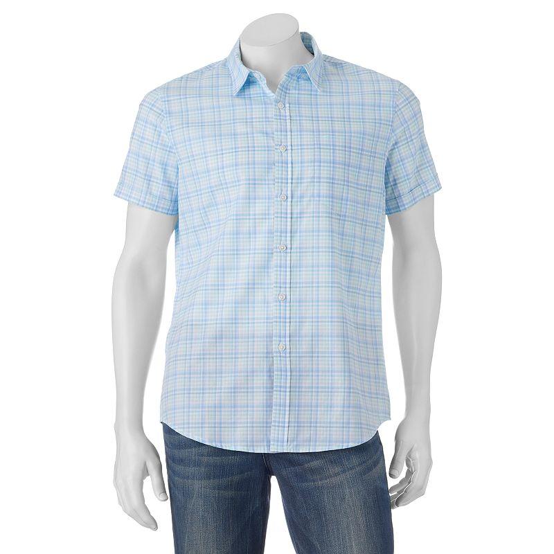 Men's Apt. 9® Slim-Fit Plaid Button-Down Shirt