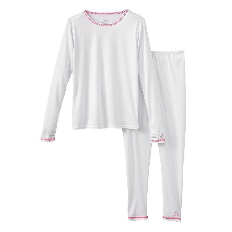 Girls' Plus Size Cuddl Duds ComforTech Long Underwear Set