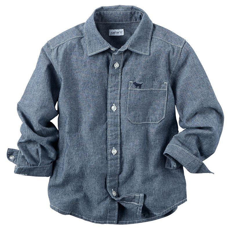 Baby Boy Carter's Chambray Long-Sleeve Button-Down Shirt