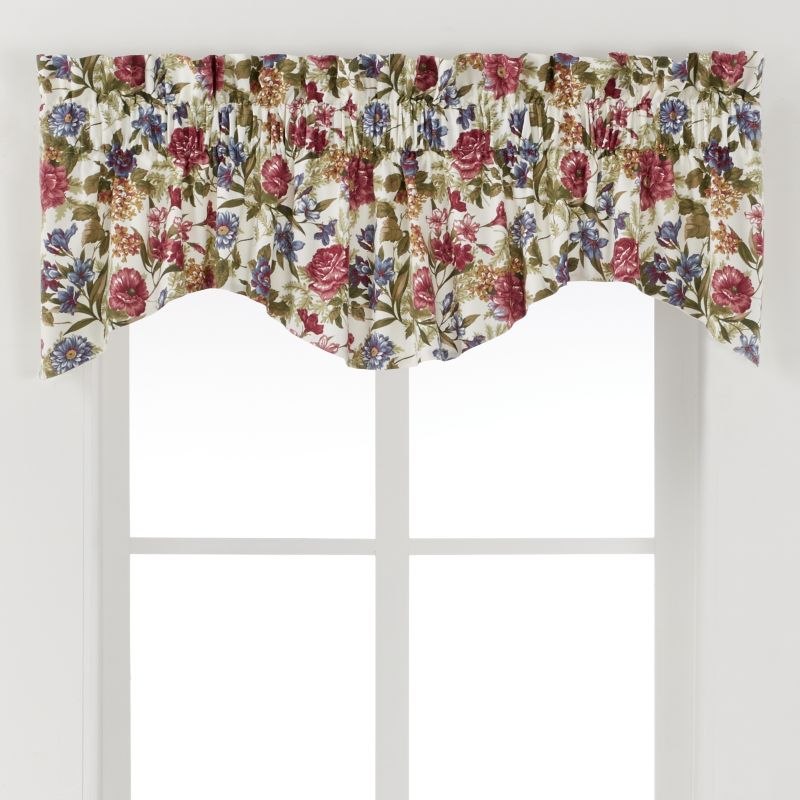 """Ellis Curtains Country Rose Valance - 70"""" X 15"""" 