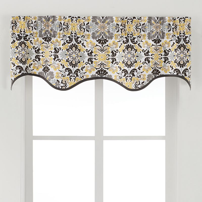 Ellis Curtains Folk Damask Valance - 50'' x 15''
