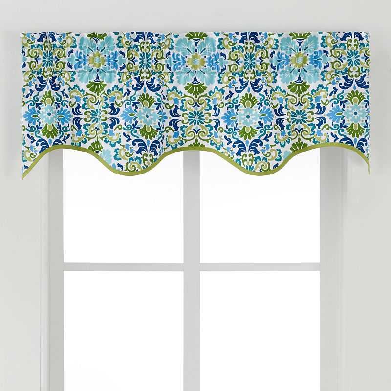 Ellis Curtains Folk Damask Valance - 50'' x 15''