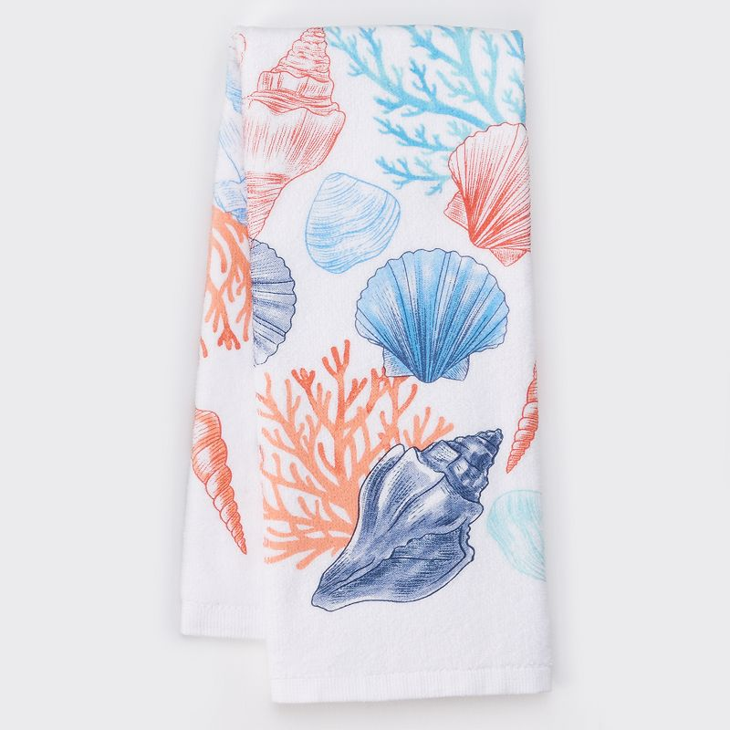 Celebrate Summer Together Shell Toss Kitchen Towel