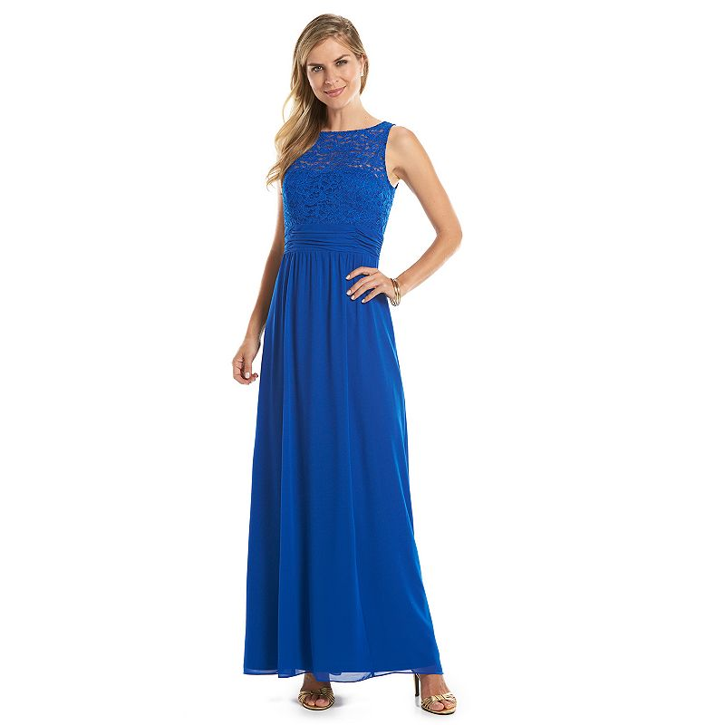 Chaps Lace Empire Evening Gown - Women's