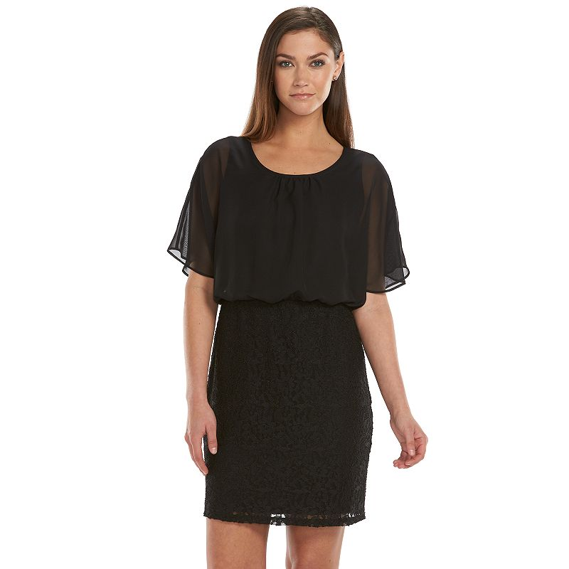 Women's Fifth & Park Lace Blouson Dress
