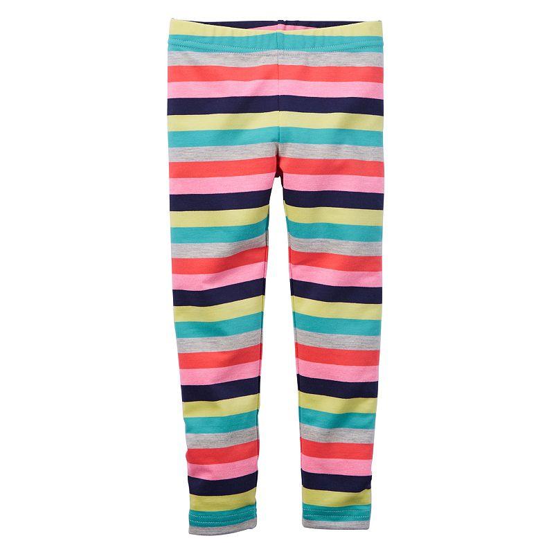 Baby Girl Carter's Wide Striped Leggings