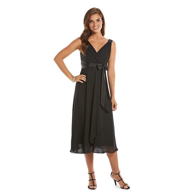 Chaps Surplice Empire Evening Dress - Women's