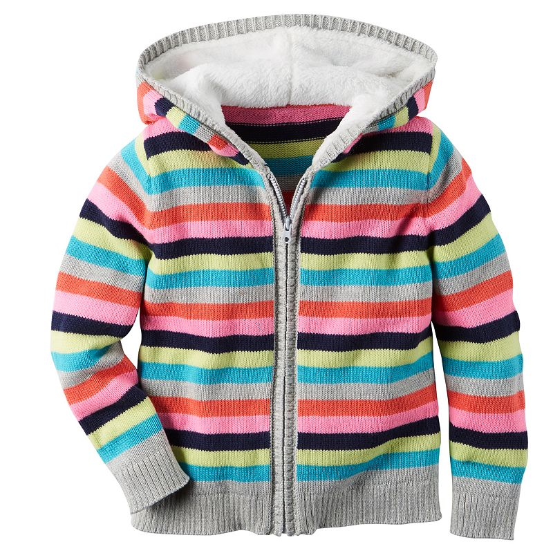 Baby Girl Carter's Striped Hoodie