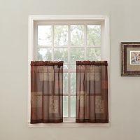 Top of the Window Eden 2-pk. Tier Curtains