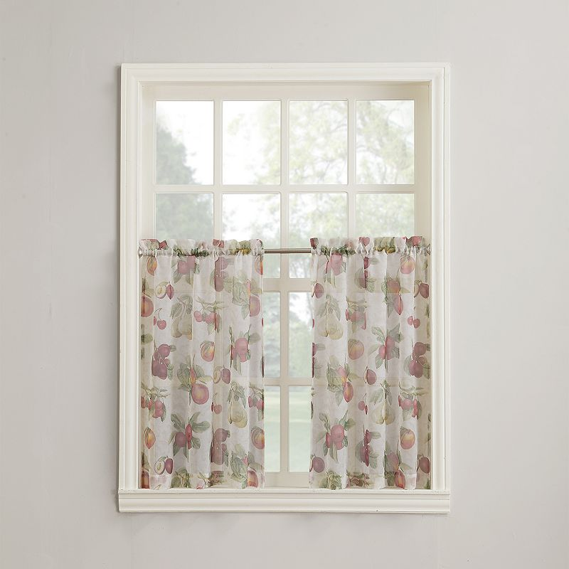Summer Orchard 2 Pk Tier Curtains
